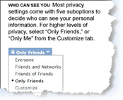 facebook privacy small