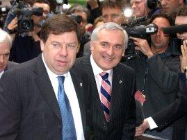 Brian Cowen (left) and Bertie Ahern